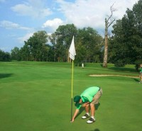 Hole-in-one at MCC #9, Aug 2014